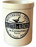 Utensil Crock. Utensil Holder with French Farmhouse Provincial Vintage Decal. Counter top organizer.