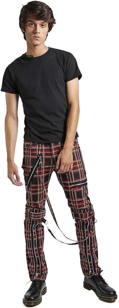 Tripp Black Plaid Bondage Pant
