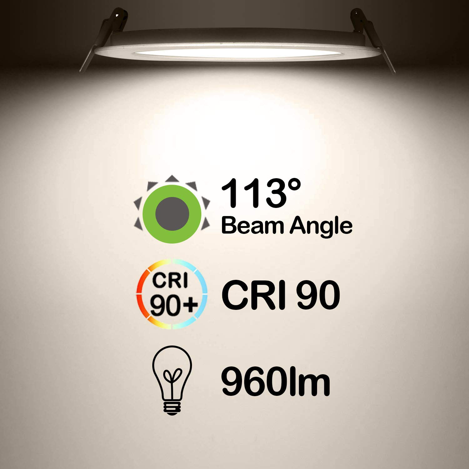 Hykolity 15w 6 Inch Led Slim Recessed Ceiling Light 960lm Cri90 Wiring Diagram Of Triac Dimming Downlight Connecting Over 1 4000k Neutral White Low Profile With Juction Box Dimmable Etl Energy Star