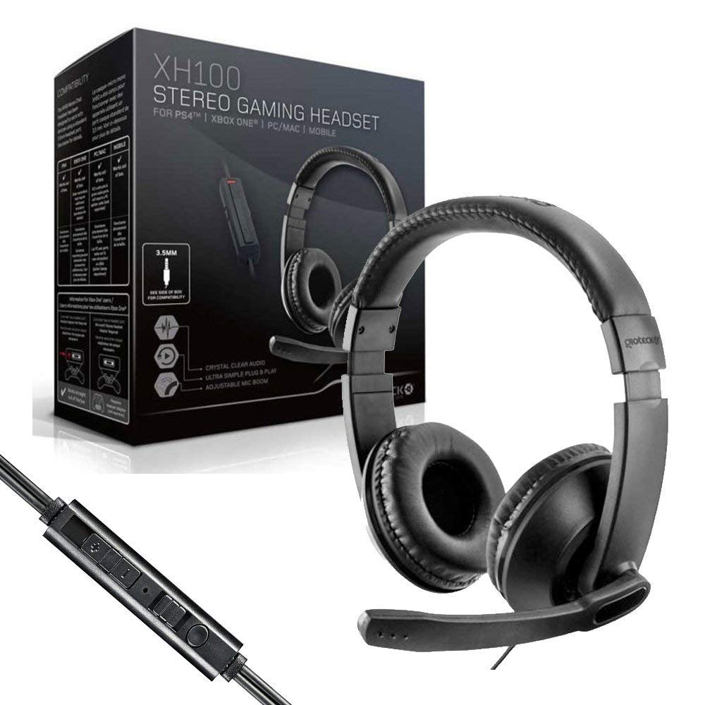 Gioteck - Auricular Stereo Cable XH 100 (PC, Mac, PS4, Xbox): Amazon.es: Videojuegos
