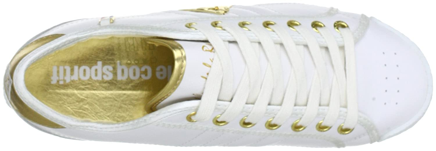 51c107dae3f6 Le Coq Sportif ESCRIME LA REUNION LOW WOMEN Trainers Womens White Weiß  (Bright White) Size  6 (39 EU)  Amazon.co.uk  Shoes   Bags