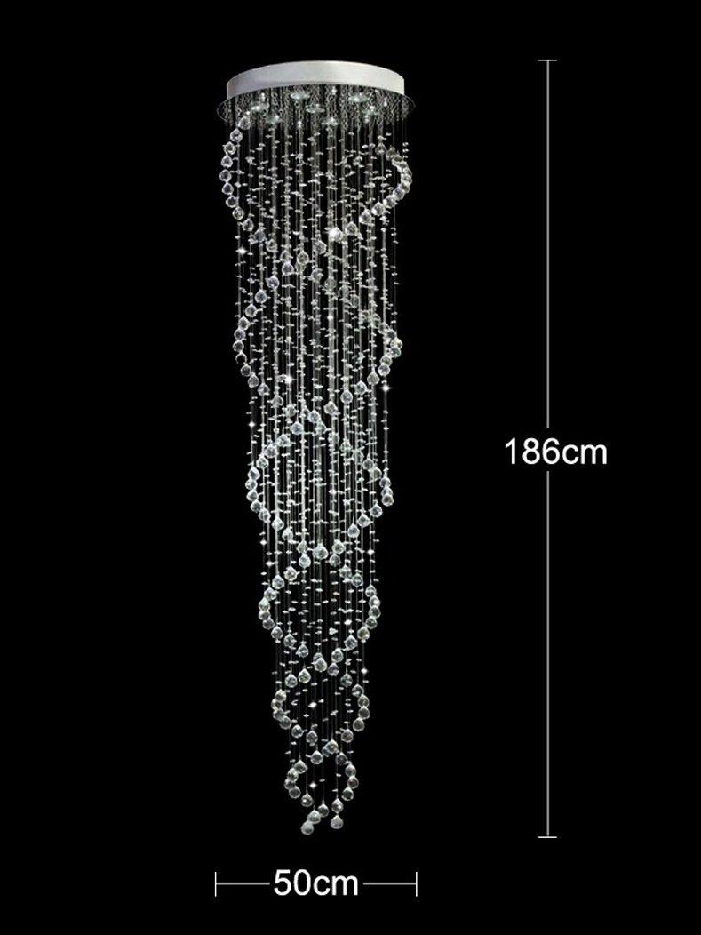 Cool Kronleuchter Kristall Modern Ideen Von Dst Doppelspirale Klar Tropfen 186 Cm Deckenleuchte