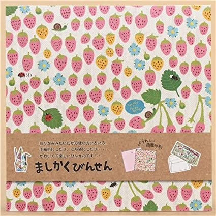 Amazon Kawaii Colorful Strawberry Origami Note Pad From Japan