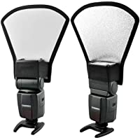 Andoer® Universale Flash Diffusore Softbox Argento / Bianco Riflettore per Canon Nikon Pentax Yongnuo Speedlite