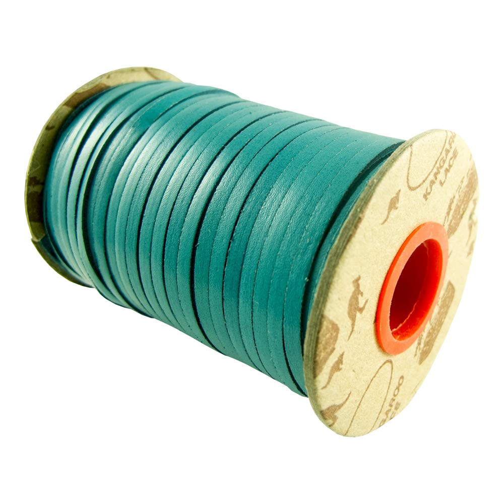 Springfield Leather Company Rainbow Kangaroo Lace (Turquoise, 3/32'' 25 YD.) by Springfield Leather Company (Image #1)