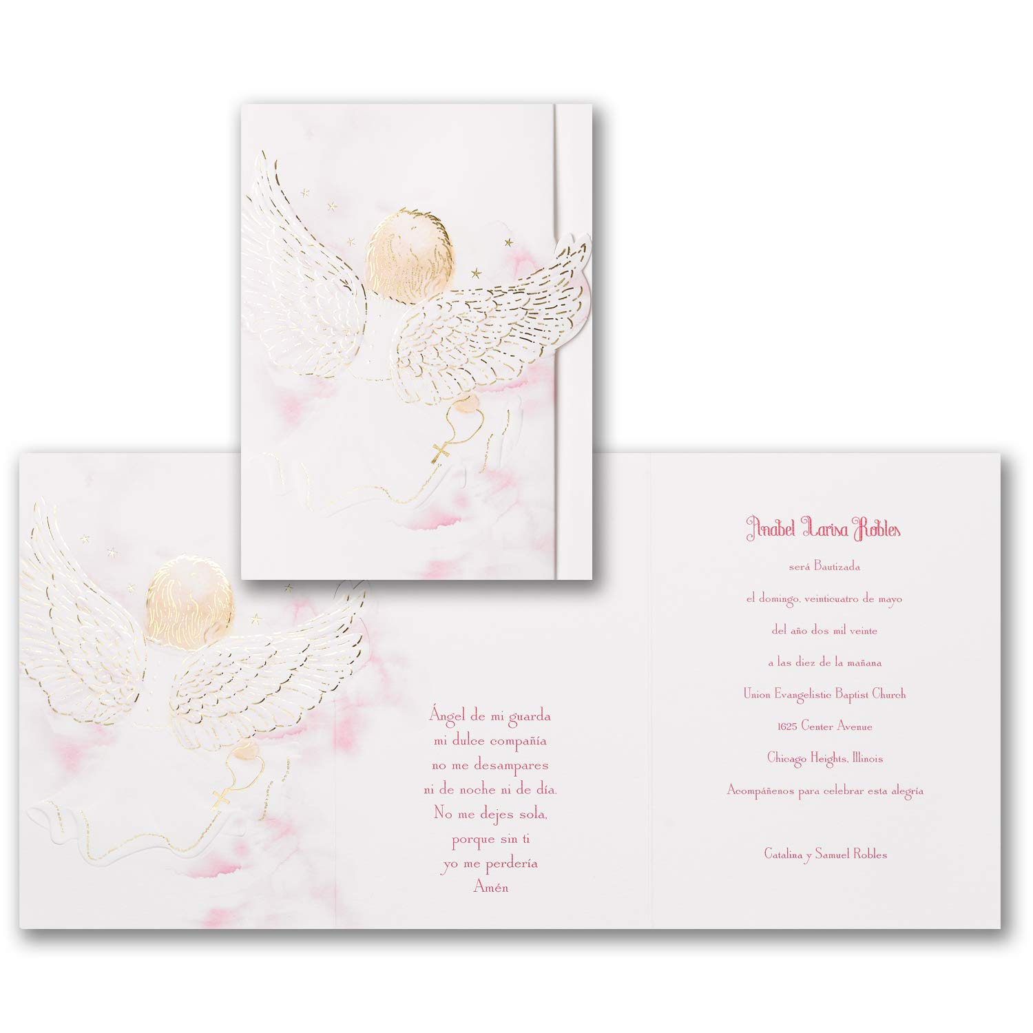 1025pk Blessed Girl - Invitation-Shop All Baby