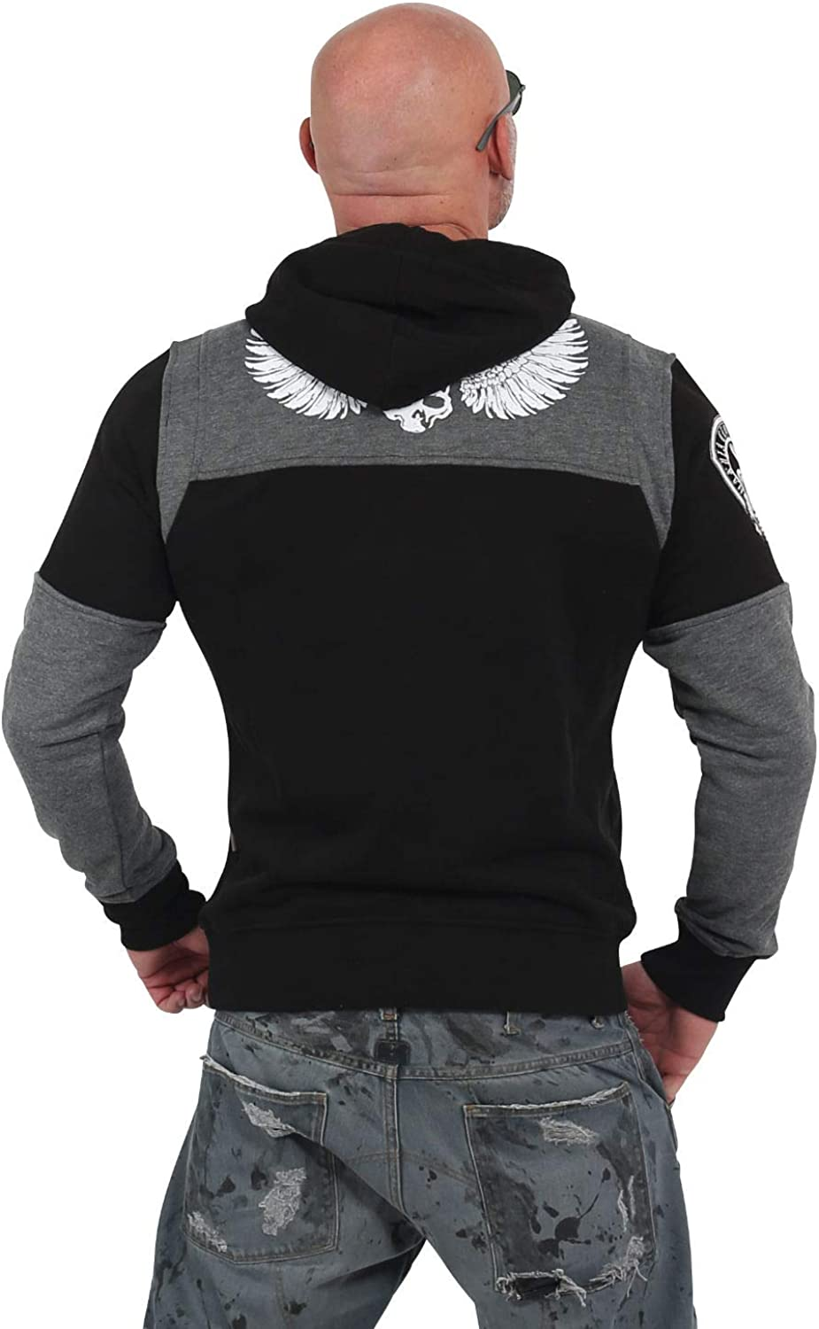 Yakuza Hoody Label Two Face HOB-13002 Black Schwarz