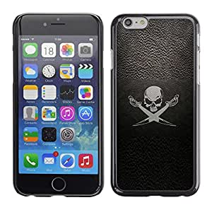 Eason Shop / Hard Slim Snap-On Case Cover Shell - Pirate Symbol Sign Skull Swords Ship Sail - For Apple Iphone 6 Plus 5.5