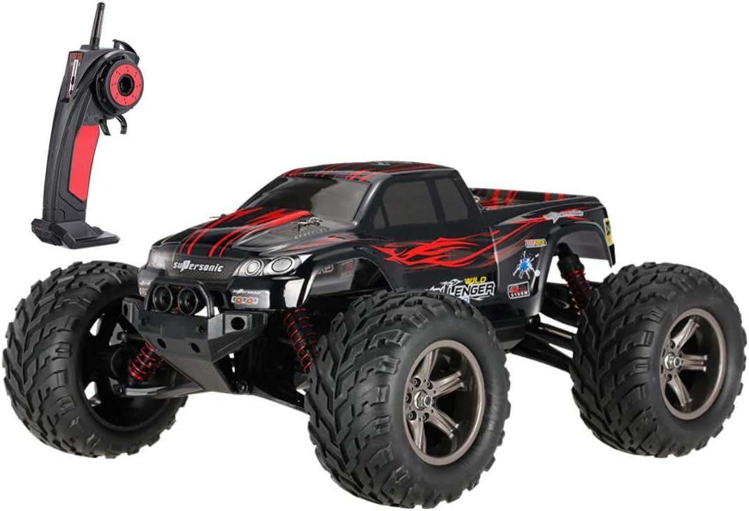 MODELTRONIC Coche Radio Control teledirigido Monster Truggy Escala 1/12 9115 9116 Eléctrico 2.4G / Velocidad de 40km/h / Batería Recargable / Coche RC XINLEHONG (Monster Rojo 9115)