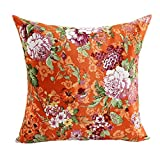 Ikevan Vintage Beautiful Flowers Faux suede Square Pillowcase - Best Reviews Guide