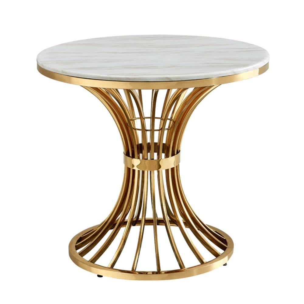 リビングルームのコーヒーテーブル、モダンな寝室のバルコニースモールアパートメント大理石の丸テーブル(60×60×45cm) B07RDFMK43