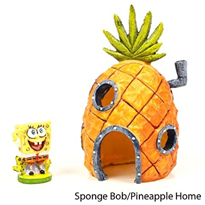 SpongeBob SquarePants Bikini Bottom Aquarium Ornaments with Bonus Stickers