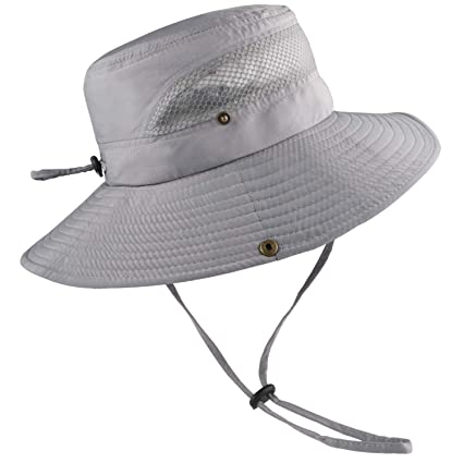 db700df6f Sun Hats for Men Women Fishing Hat UPF 50+ UV Protection Waterproof Summer  Outdoor Hats Cowboy Hat Breathable Boonie Hat for Hiking Safari Fishing ...