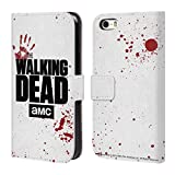 Official AMC The Walking Dead White Logo Leather Book Wallet Case Cover for iPhone 5 iPhone 5s iPhone SE