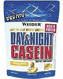 Weider, Day & Night Casein Protein, Vanille-Sahne, 1er Pack (1 x 500 g)