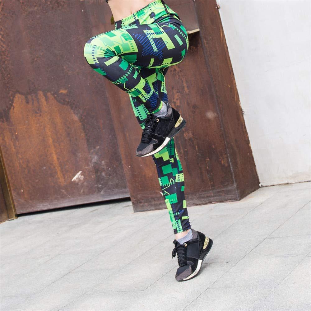Cathalem Women Yoga Leggings Printed Sports Workout Gym Fitness Exercise Athletic Pants