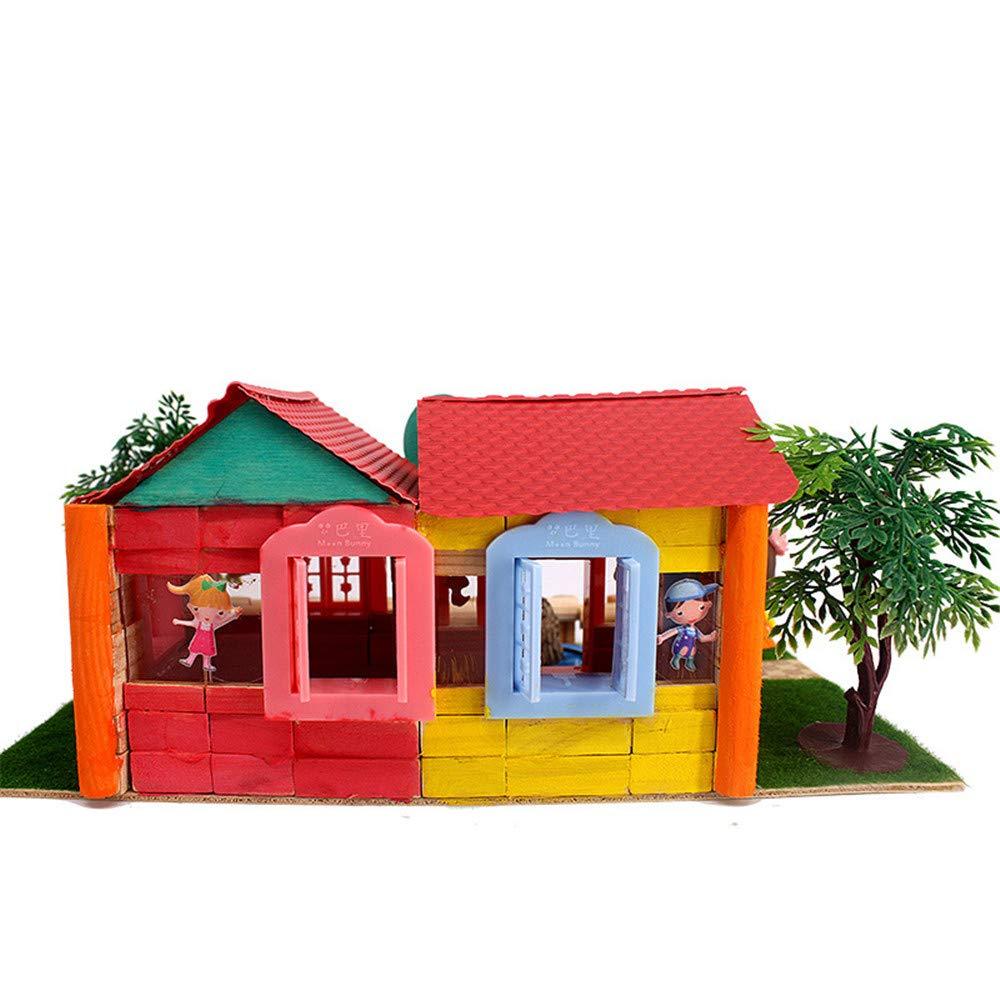 Creativo fai da te 3d Mini House Ragazzi e ragazze regalo Assemblaggio Costruzione giocattolo Modello di edificio creativo educativo Fai da te Giocattoli a mano regalo creativo per ragazzi e ragazze R