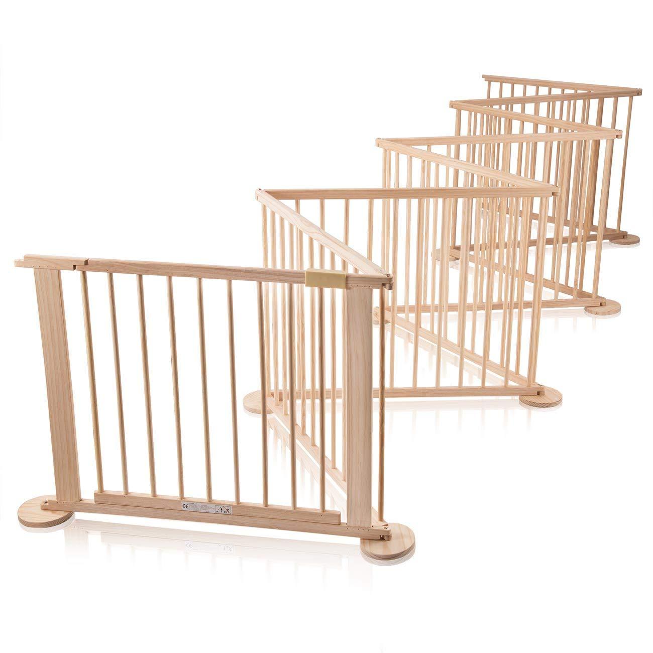 Baby Vivo Parque corralito Puerta Robusto Bebe Barrera de Seguridad hecho de Madera con Puertas 8 Elemente Modelo 2018