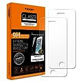 Spigen® **2-Pack** Protection écran iPhone SE / 5S / 5C / 5, en Verre Trempé, **Easy-Install Kit** [Extreme Résistant aux rayures] *Ultra Clair* protection verre trempé iPhone SE / 5S / 5C / 5 (SGP10111)
