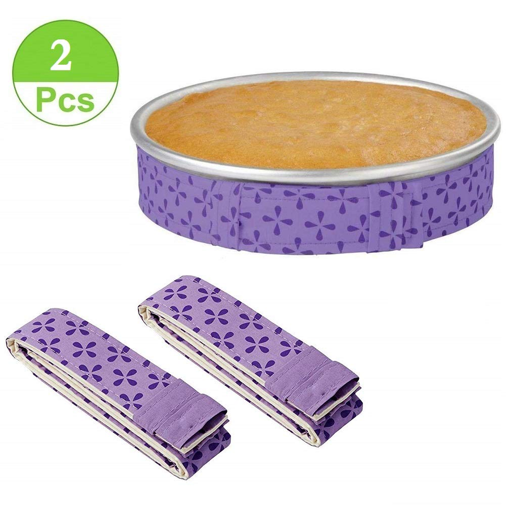 2-Piece Bake Even Strip Cake Pan Dampen Strips Super Absorbent Thick Cotton