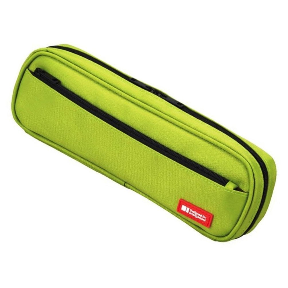 LIHIT LAB Pen Case, 9.4 x 1.8 x 3 inches, Yellow Green (A7552-6) by LIHITLAB