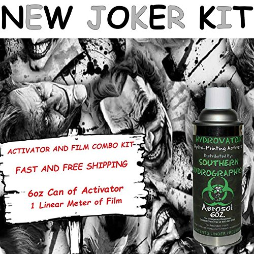 Water Transfer Printing - Hydro Dipping - 6oz. Activator with New Joker kit ()