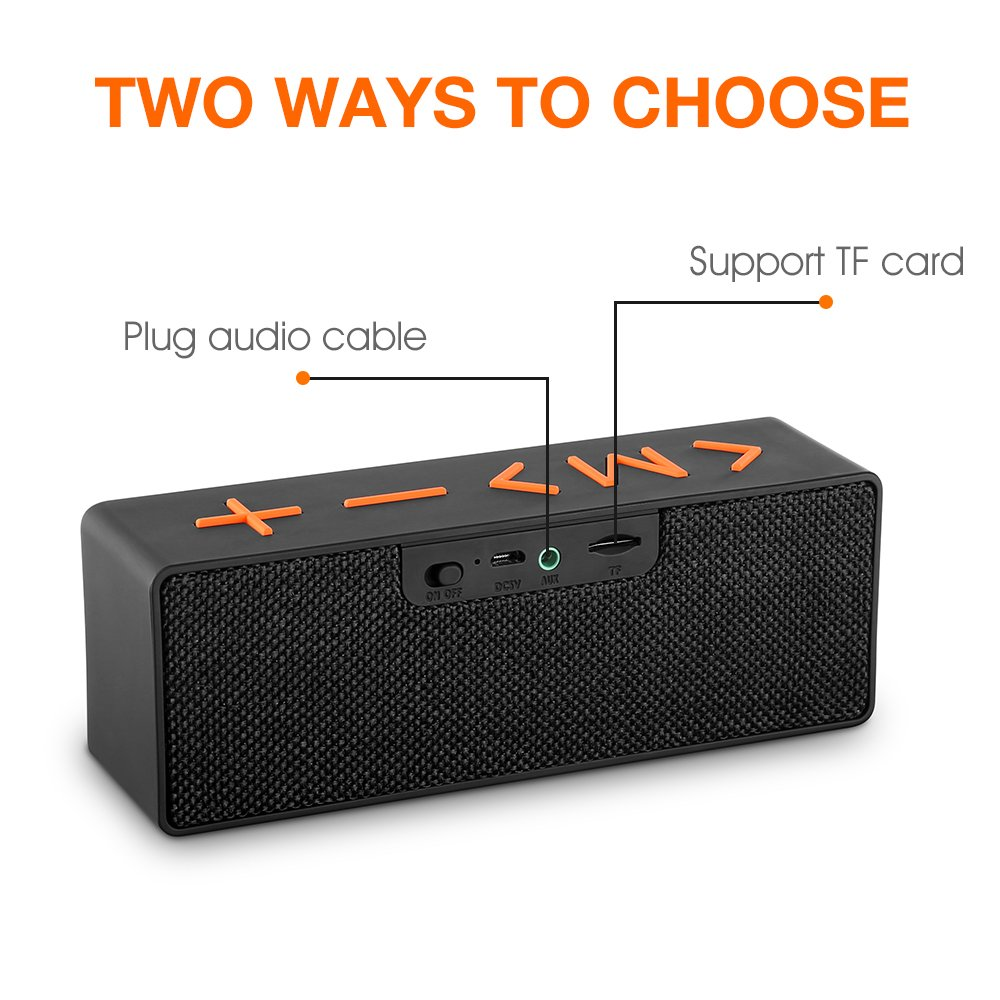 Z Zanmax Altavoz inalámbrico de Bluetooth, Presidente portátil de Altavoz de la barra de sonido de HD Audio para el viaje al aire libre casero, Salida dual ...