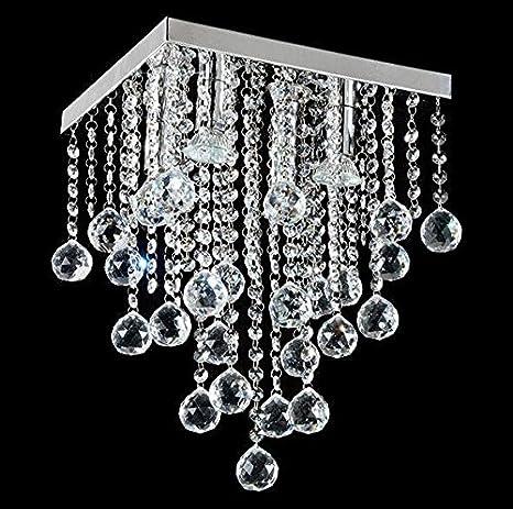 GU10 portalámparas colgantes modernas luces de cristal ...
