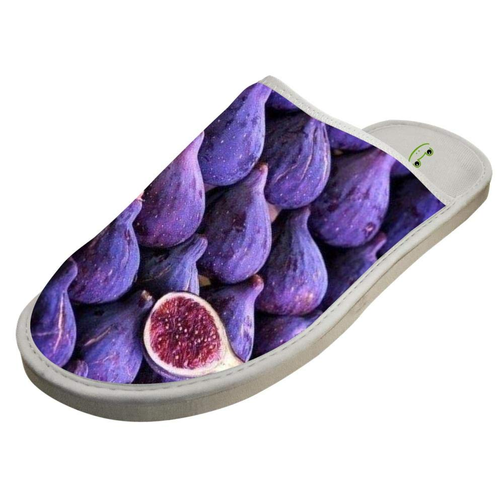 Ficus Fig Lilac Purple Unisex Adult Cotton House Slippers Keep Warm House Crocs Lover