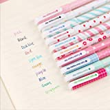 Sencoo 10 pack Cute Color Pens for Women Colorful Gel Ink Pens Multi Colored Gel Pens for Bullet Journal Writing Roller Ball