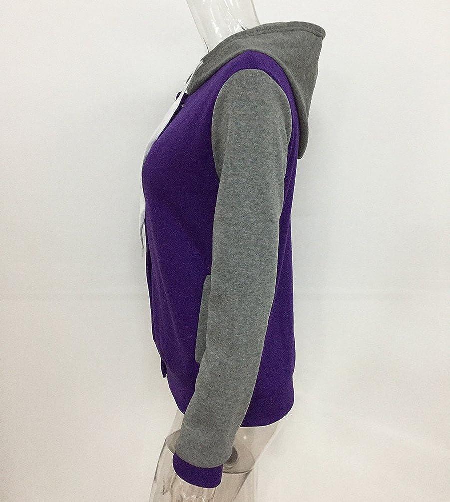 LvRao Donna Felpa con Cappuccio Hoodies Manica Lunga Jogging Varsity College Jackets Casual Sportiva Manica Lunga Hoody