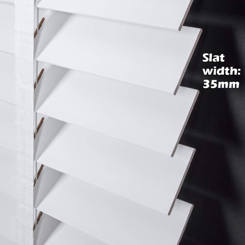 60cm // 80cm // 100cm // 120cm Breite Size : 60x80cm Sichtschutzlamellen Easy Fit F/ür Home Office Fenster Jalousien Holz Innenbeschlag Mini Venetian Shade White