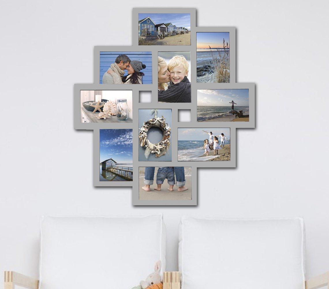 Amazon.de: WOLTU BR9728 Bilderrahmen, 10 Fotos Collage, Kunststoff ...