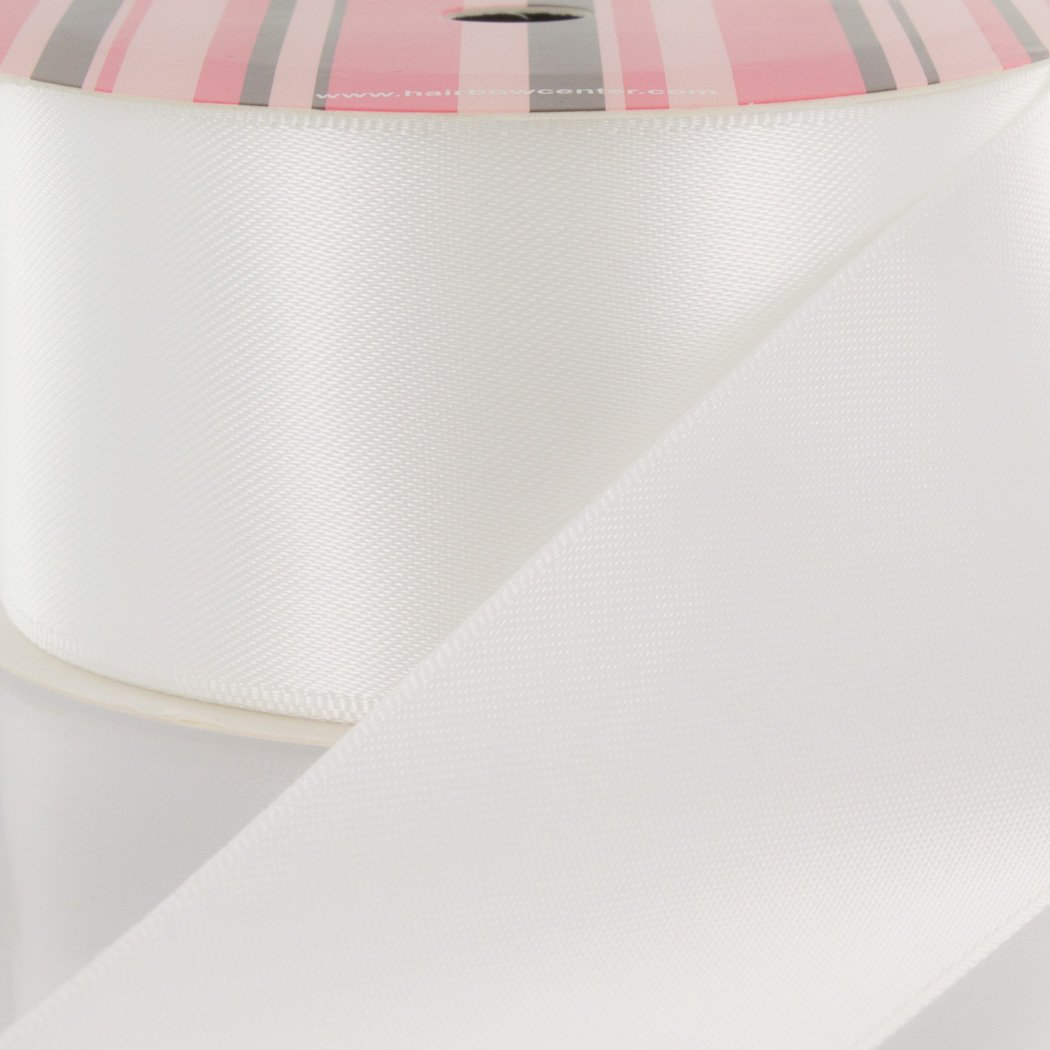 3'' White Double Faced Satin Ribbon 100 yard