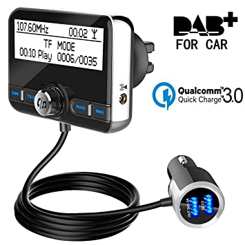 Fabelaktig DAB / DAB + Radio Adapter FM Sender DAB In-Car Digital Radio JV-94