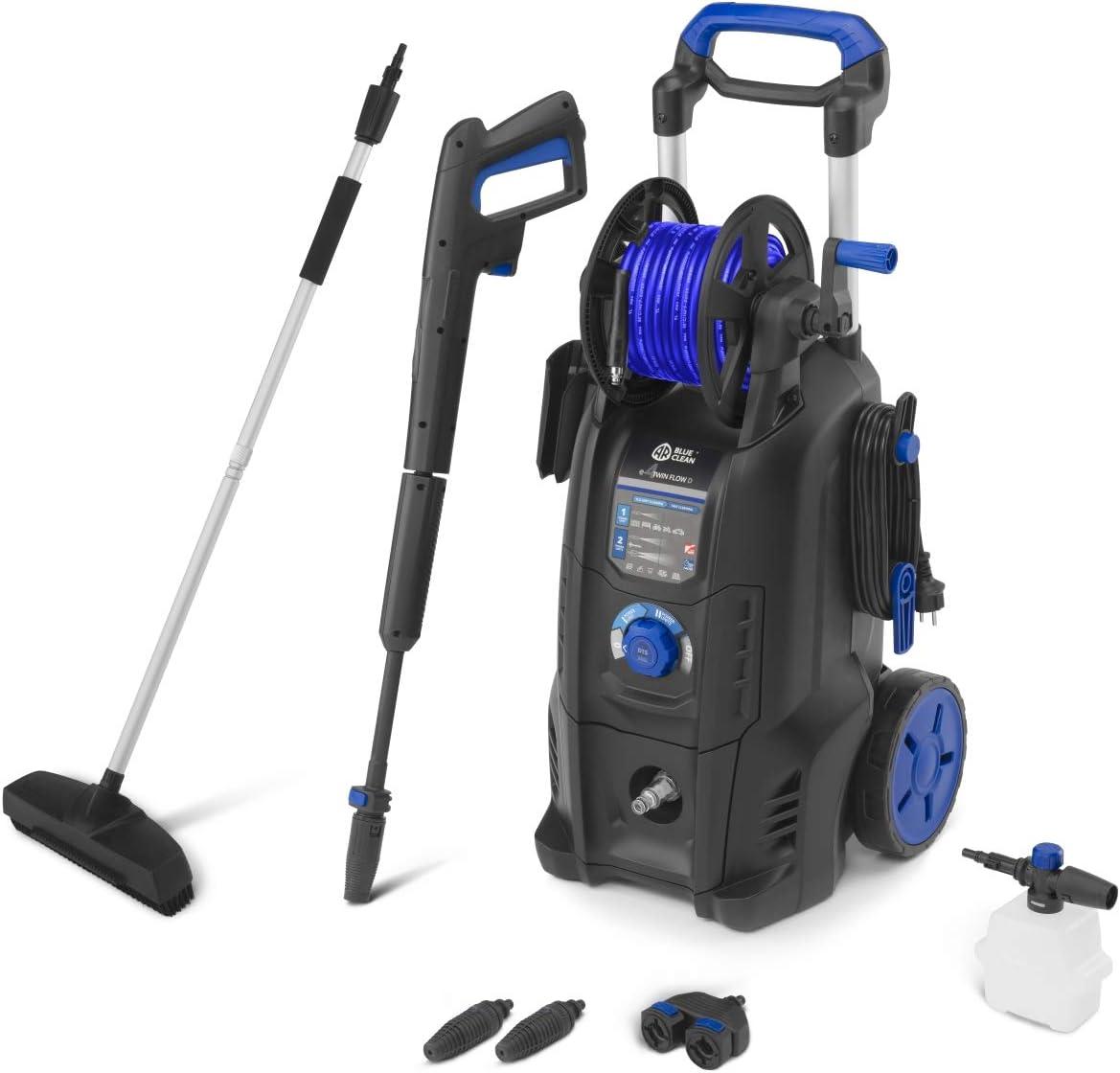 AR Blue Clean e-4 TWIN FLOW D Limpiador de alta presión, Negro y Azul
