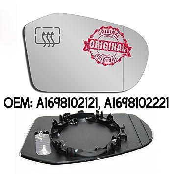 RHS Retrovisor Gran Angular Espejo calefacción cartucho Base cristal OEM a1698102121 a1698102221: Amazon.es: Coche y moto