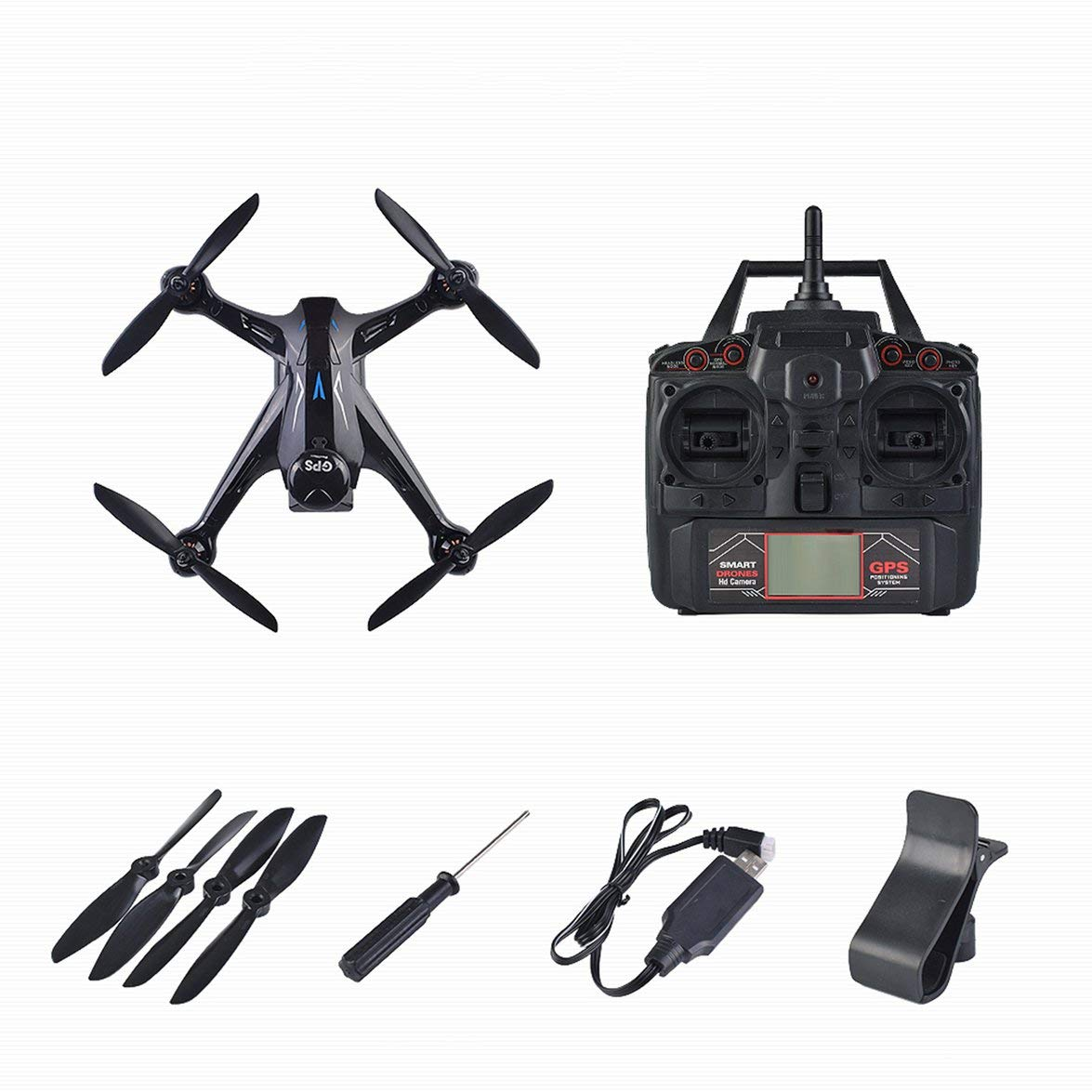 Kongqiabona Professional Drone Ray X198 GPS Drone Four Axis Aircraft with Fixed Height 720P WiFi Camera Quadrocopter RC Drone