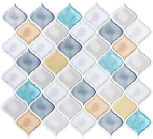 Hopopula 10 STK Shell Mosaik Backsplash 30X30X2 cm Nahtlose Splice Mosaikfliesen Perlmutt Backsplash Fliesen f/ür Pools Perlenmosaik K/üche Mosaikfliesen Badezimmer