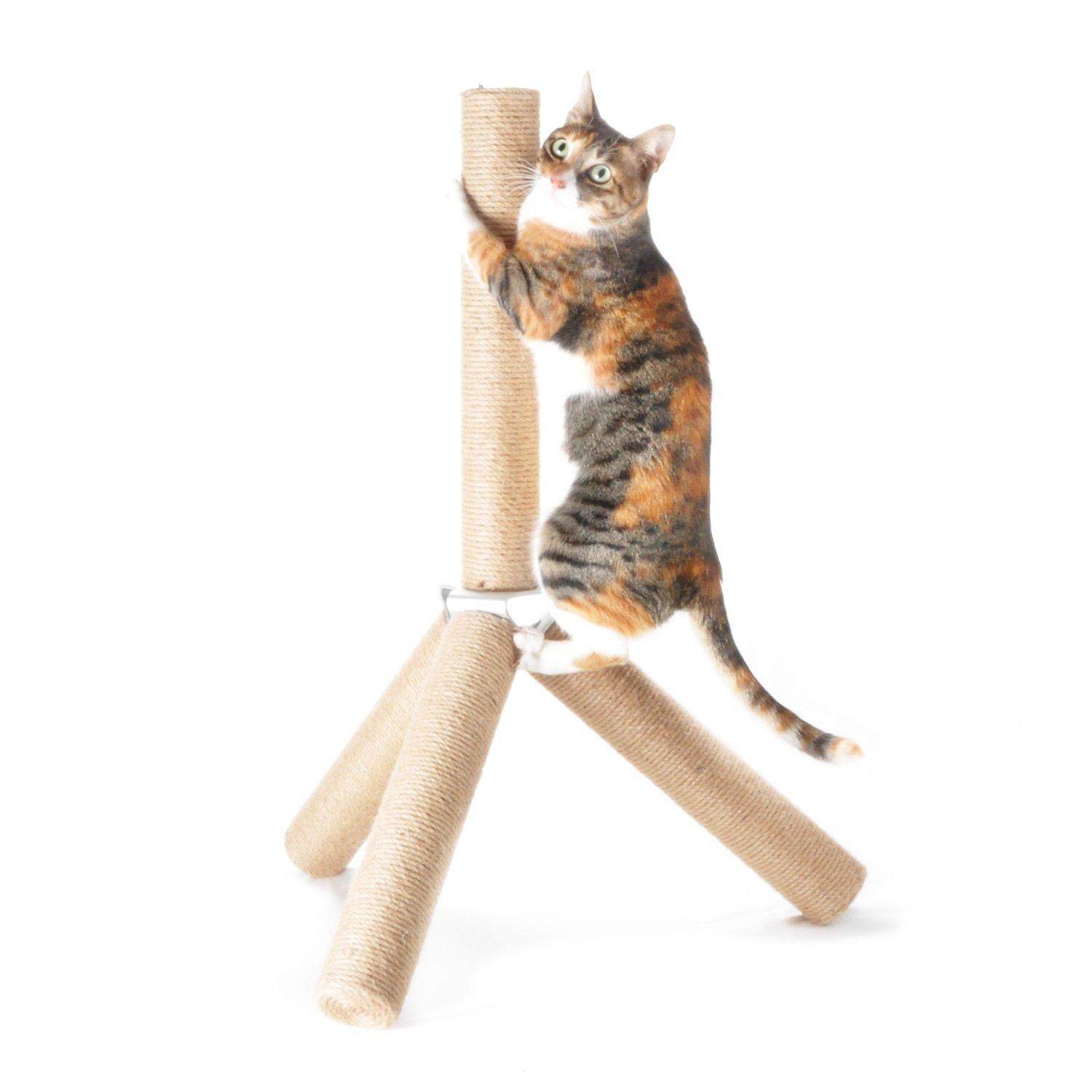 [NEW] 4CLAWS Jute Tripod Scratching Post 30'',White,30 x 21 x 21 in by 4CLAWS