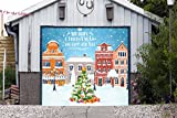Christmas Tree Single Garage Door Covers Billboard Full Color 3D Effect Print Door Decor Decorations of House Garage Holiday Mural Banner Garage Door Banner Size 83 x 96 inches DAV210