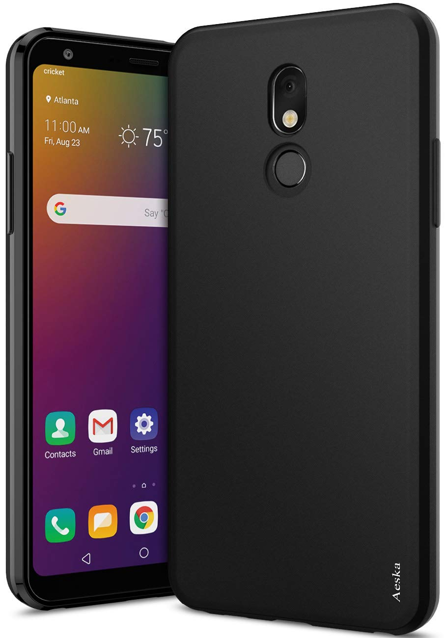 LG Stylo 5 Case, LG Stylo 5V Case, LG Stylo 5 Plus Case, Aeska Ultra [Slim Thin] Flexible TPU Gel Rubber Soft Skin Silicone Protective Case Cover for LG Stylo 5 / LG Stylo 5+ / LG Stylo 5V (Black)