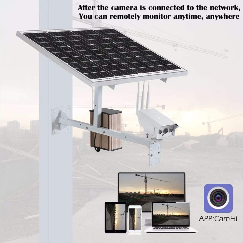 MYZZ 30W Panel Solar CCTV WiFi Cámara IP 1080P HD 3G 4G Tarjeta Sim Exterior Potencia Impermeable 15A Batería Vigilancia Cámara Exterior: Amazon.es: Hogar