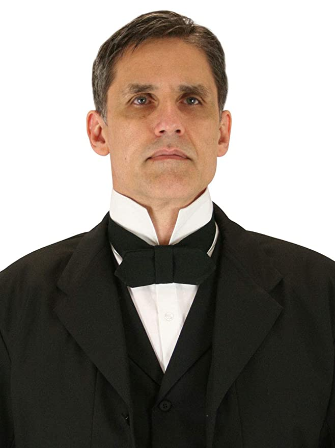 Men's Steampunk Costume Essentials Historical Emporium Mens Cotton Stock Ties $19.95 AT vintagedancer.com