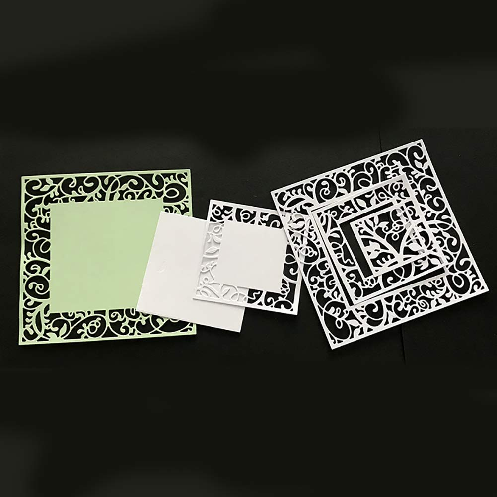 Cutting Dies Square Frame Metal Cutting Dies DIY Scrapbooking Album Cards Background Stencil