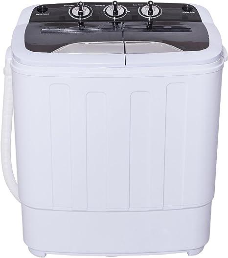 costway Mini Single 3,6 kg lavadora con 2 kg carga superior ...
