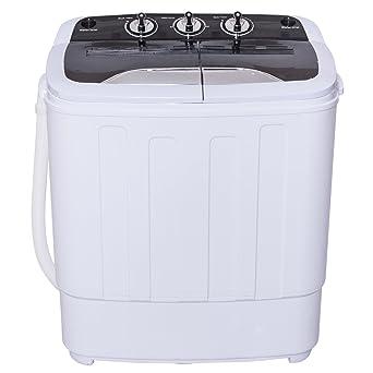 Kleine Waschmaschinen Toplader costway mini waschmaschine single waschautomat mit schleuder