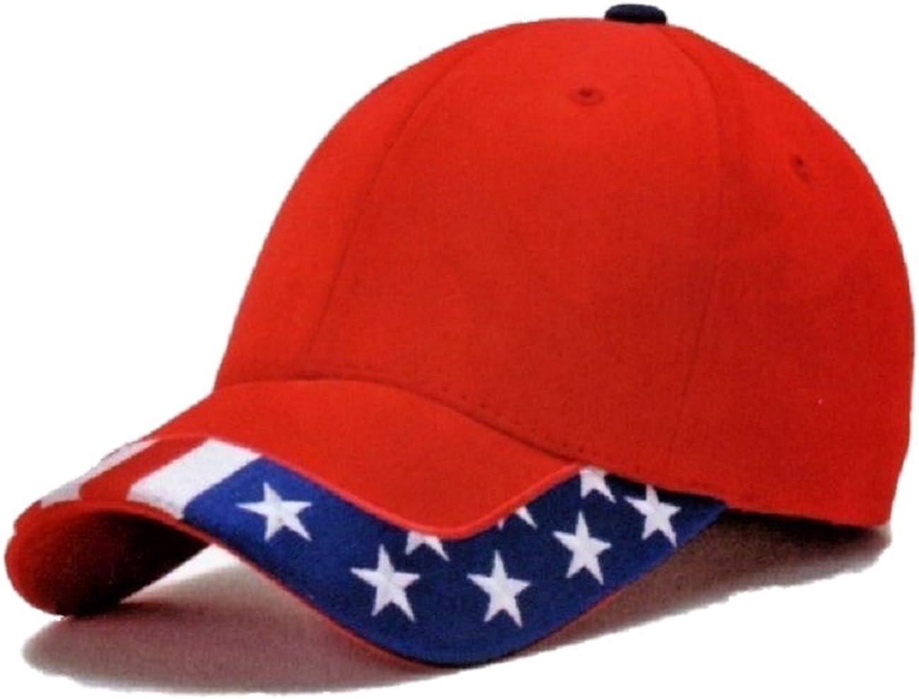 Navy American US Flag Pattern Trim USA Patriotic United States Baseball Cap Hat
