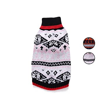 2 patrones de punto nórdico suéter de perro, prendas de vestir exteriores prendas de vestir