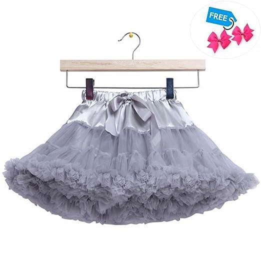 3b95a2e06 Amazon.com  Girls Tutu Skirt Layer Fluffy Ballet Rainbow Tutu ...